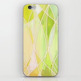Lemon & Lime Love - abstract painting in yellow & green iPhone Skin