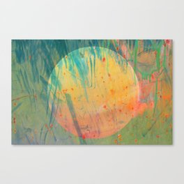 Scratch the Moon Canvas Print