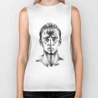 tom hiddleston Biker Tanks featuring Tom Hiddleston 3 by aleksandraylisk
