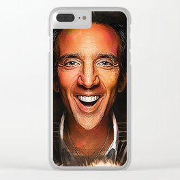 Nicolas Cage - Caricature Clear iPhone Case