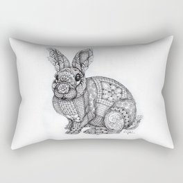 """Blush Bunny"" Rectangular Pillow"