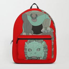Lion Statues Backpack