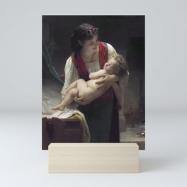 """William-Adolphe Bouguereau """"Berceuse (Le coucher)"""" Mini Art Print"""