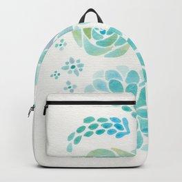 Watercolor Succulent Garden 1 Backpack
