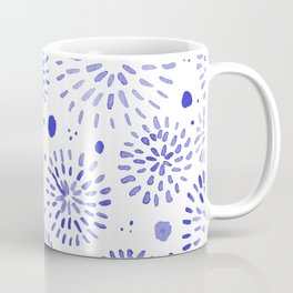 Abstract watercolor sparkles – blue Coffee Mug