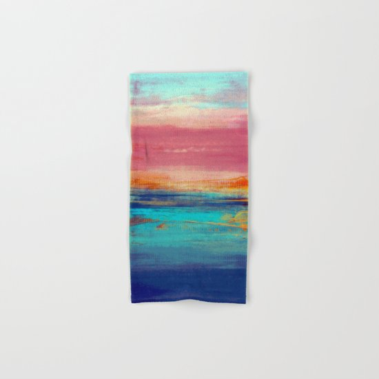 Retro Sunset Hand & Bath Towel