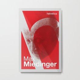 Max Miedinger - Helvetica Metal Print