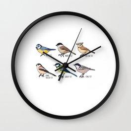 Birdwatching & Tit Bird Ornithology Gift Wall Clock