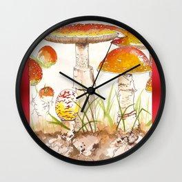 Amanita Muscaria Wall Clock