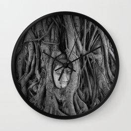its complicated [square] - vine buddha Wall Clock