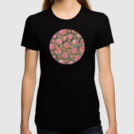 Big Red Circles Pattern T-shirt