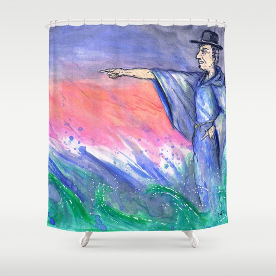 """Tempest"" by Cap Blackard Shower Curtain"