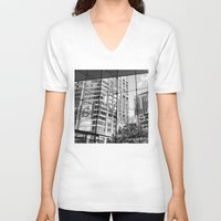lincoln V-neck T-shirts featuring Lincoln Center by Emily Werboff