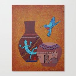 Hopi Pueblo Pottery Vases. Canvas Print