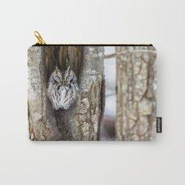 Sleeping Screech owl Carry-All Pouch