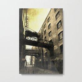 Butlers Wharf London Vintage Metal Print