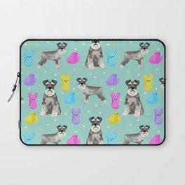 Schnauzer dog breed peeps marshmallow easter spring dog pattern gifts schnauzers Laptop Sleeve