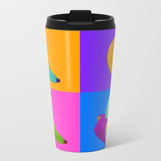 Andy's Bananas Metal Travel Mug