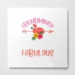 Cute Friendmingo funny friend flamingo lover gift friends T-Shirt Metal Print