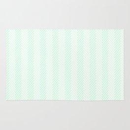Pale Green Summermint Pastel Green Mint Herringbone Rug