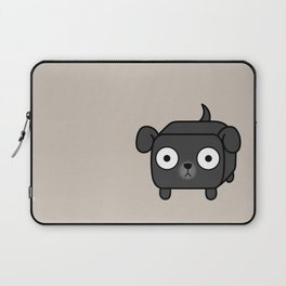 Pitbull Loaf - Black Pit Bull with Floppy Ears Laptop Sleeve