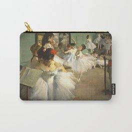 The Ballet Dance Class Painting Edgar Degas in Modern Edge Brush Strokes Carry-All Pouch