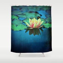 waterlily textures Shower Curtain