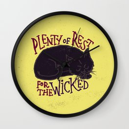 Rest for the Wicked Wall Clock