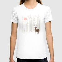 card T-shirts featuring Reindeer of the Silver Wood by Poppy & Red