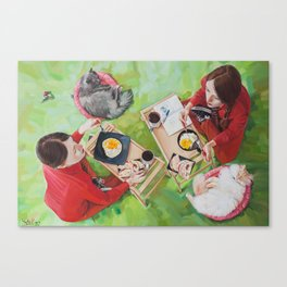 Twins #FoodPorn Canvas Print