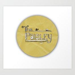 The Paisley Logo Art Print