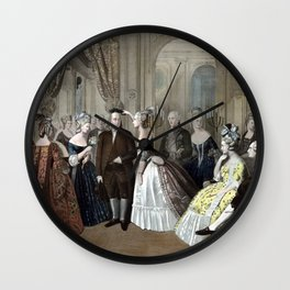 Franklin's Reception At The Court Of France Wall Clock