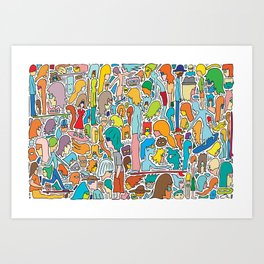 Morning Report Color Art Print