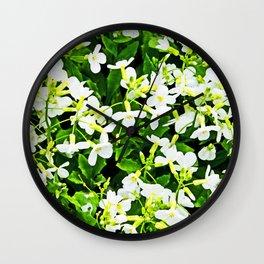 WHITE FLOWERS OF ARABIS Wall Clock