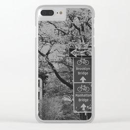Bike Brooklyn Clear iPhone Case