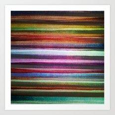 Happy rainbow water colors Art Print