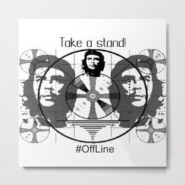 #OffLine Metal Print