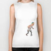 tintin Biker Tanks featuring Streetwear Tintin by Derek Boman