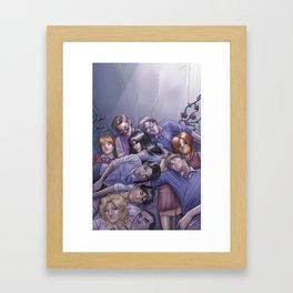 Morning Glories Skins Framed Art Print