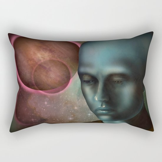 Man On The Moon Rectangular Pillow