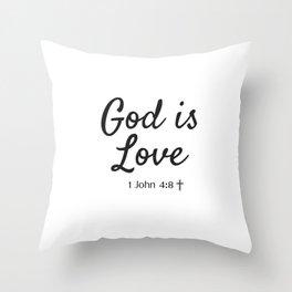 God is Love - Religious Art Throw Pillow