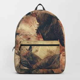 Horses Artistic Watercolor Painting Decorative Backpack