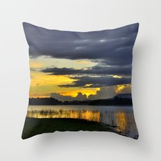 When the storm is going ... Throw Pillow