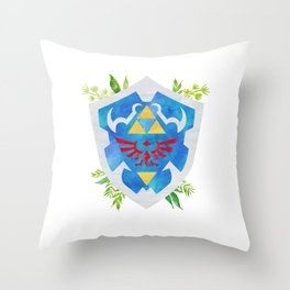 One Shield to Hyrule Them All Throw Pillow