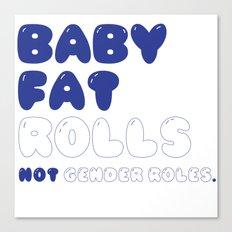 CHUBBY BABY Canvas Print