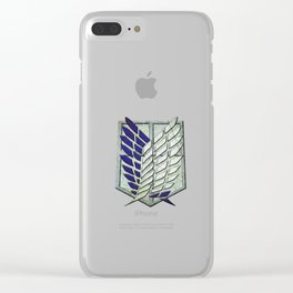 attack on titan logo Clear iPhone Case