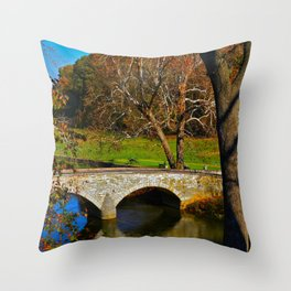 Burnside Bridge Antietam Battlefield Throw Pillow