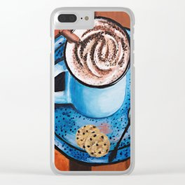 Cappucino Time Clear iPhone Case