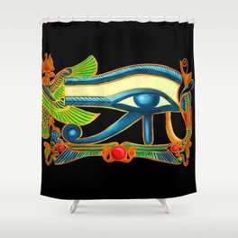 Eye of Horus Good Luck Protection Shower Curtain