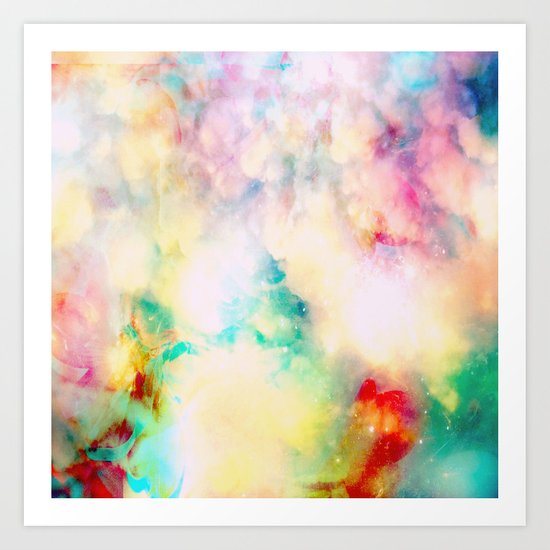 Fume Color Splash 03 Art Print